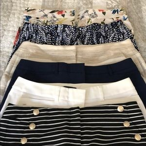 6 pair of size 6 WHBM shorts